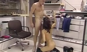 Armed bitch Stephanie Swift gets her cunt eaten and fucked by a horny guy