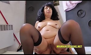 55 year old Wendy gets fucked by a big Chinese cock