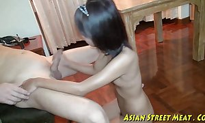 Oriental girlette does anal be fitting of love capital plus good shape