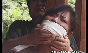 Japanese slavery clip rope and fastened