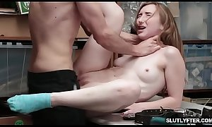 Gracie May Green bouncing off her tight pussy on top!