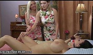 MILF Reagan Foxx &amp_ Blonde Teen's Hot First Lesbian Date