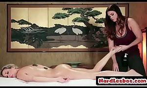 Alison Tyler &_ Brandi Love - Amazing lesbians have fun on the massage table